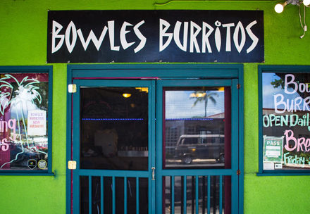 Bowles Burritos front door